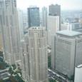 都庁のビルのまわり